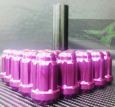 16 Purple Spline Tuner Racing Lug Nuts | 12X1.5 | Fits Most Jdm Honda Acura | - Set Group USA - 1