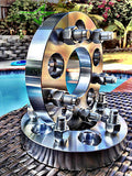 "PORSCHE WHEEL SPACER KIT 5X130 | 32MM OR 1.25"" INCH THICK RAUH-WELT RWB 14X1.5 - Set Group USA - 3"