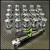 20 Chrome Spline Lug Nuts 14X1.5 |Mopar Dodge Challenger | Charger | Magnum Lugs - Set Group USA - 3