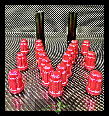 "24 PINK SPLINE LUG NUTS 1.38"" + 2 KEYS 