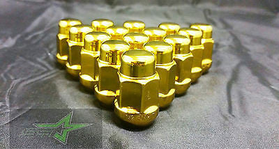 23 JEEP GOLD LUG NUTS | 1/2-20 | CLOSED END 5X5, 5X4.5, 5X5.5 BULGE ACORN LUGS - Set Group USA - 1