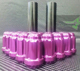 20 Purple Spline Tuner Racing Lug Nuts +2 Keys | 12X1.5 | Fit Most Honda Acura | - Set Group USA - 1