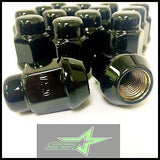 10 Black Lug Nuts 14X1.5 | Dodge Magnum Charger | Chevy Camaro 08+ Cts Wheel Nut - Set Group USA - 6