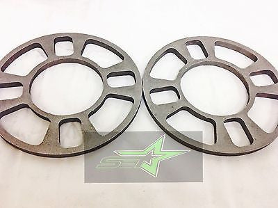 2X Wheel Spacers 8Mm 5/16 | Fits 4X98 4X100 4X108 4X110 4X114.3 4X120 4X4.5 - Set Group USA - 1