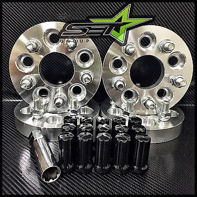 5X100 To 5X114.3 Conversion Kit Fr-S Brz Wrx 25Mm +20 Tall Black Spline Lug Nuts - Set Group USA