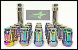 16 Neo Chrome Spline Tuner Racing Lug Nuts 12X1.5 |+2 Key Fits Hyundai Kia 4 Lug - Set Group USA - 5