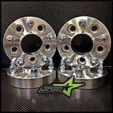 5X100 Wheel Spacers Kit Scion Fr-S, Subaru Brz Wrx, Hub Centric | 17Mm | 12X1.25 - Set Group USA - 1