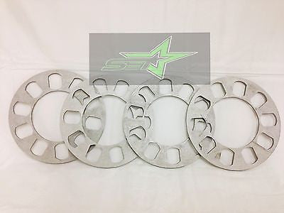 4X Wheel Spacers 5mm Or 3/16 | Fits All 5X100 5X108 5X112 5X114.3 5X115 5X120 - Set Group USA