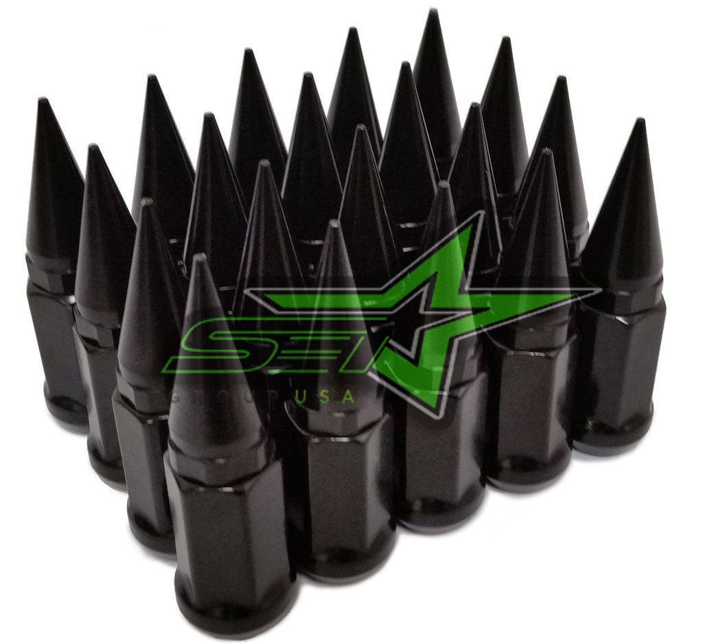 32 BLACK SPIKE TRUCK LUG NUTS 14X2.0 | FORD F-250 F-350 SUPERDUTY EXCURSION