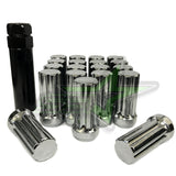 32 Chrome Spline Lug Nuts + Key | 14X1.5 | 8X6.5 | Chevy Gmc | Silverado Hummer