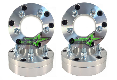 "4 WHEEL ADAPTERS 5x5.5 TO 6x5.5 | USE 6 LUG WHEELS ON 5 LUG CAR | 2"" INCH THICK - Set Group USA"
