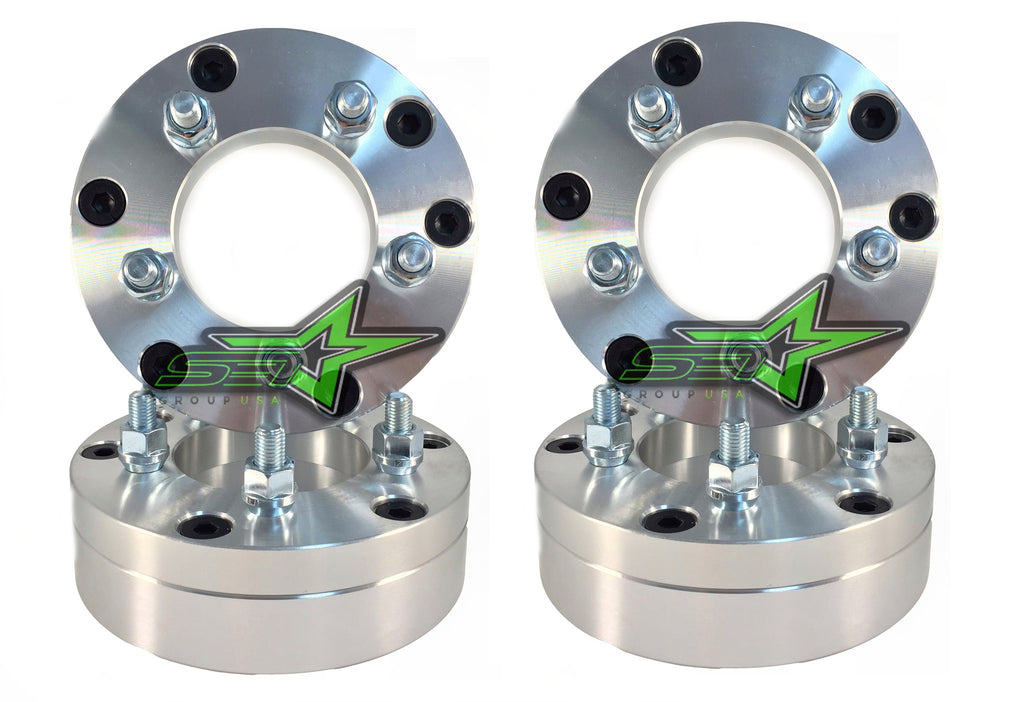"4 WHEEL ADAPTERS 6X5.5 TO 8X6.5 | USE 8 LUG WHEELS ON 6 LUG CAR | 2"" INCH THICK - Set Group USA"