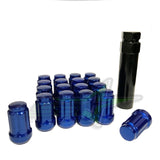 16 Blue Spline Tuner Racing Lug Nuts +2 Keys | 12X1.5 | Fits Most Honda Acura |