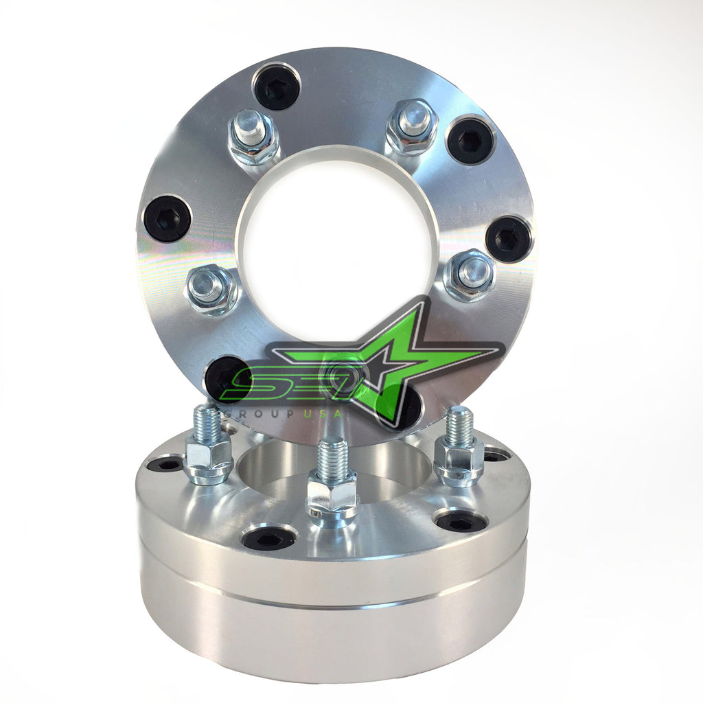 "2 WHEEL ADAPTERS 5x5 TO 6x5.5 | USE 6 LUG WHEELS ON 5 LUG CAR | 2"" INCH THICK - Set Group USA"