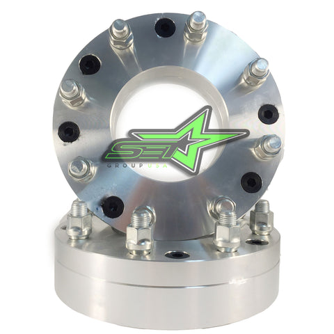 "2 WHEEL ADAPTERS 6X5.5 TO 8X6.5 | USE 8 LUG WHEELS ON 6 LUG CAR | 2"" INCH THICK - Set Group USA"