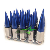 20 CHROME / BLUE SPIKE ALUMINUM EXTENDED LUG NUTS 12x1.25 | FITS INFINITI G35 G37 Q50 Q60 Q70 - Set Group USA - 1