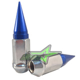 20 CHROME BLUE SPIKED EXTENDED LUG NUTS 1/2-20 SPIKE LUG NUTS - Set Group USA - 2