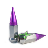20 CHROME / PURPLE SPIKE ALUMINUM EXTENDED LUG NUTS 12x1.25 | FITS INFINITI G35 G37 Q50 Q60 Q70 - Set Group USA - 2