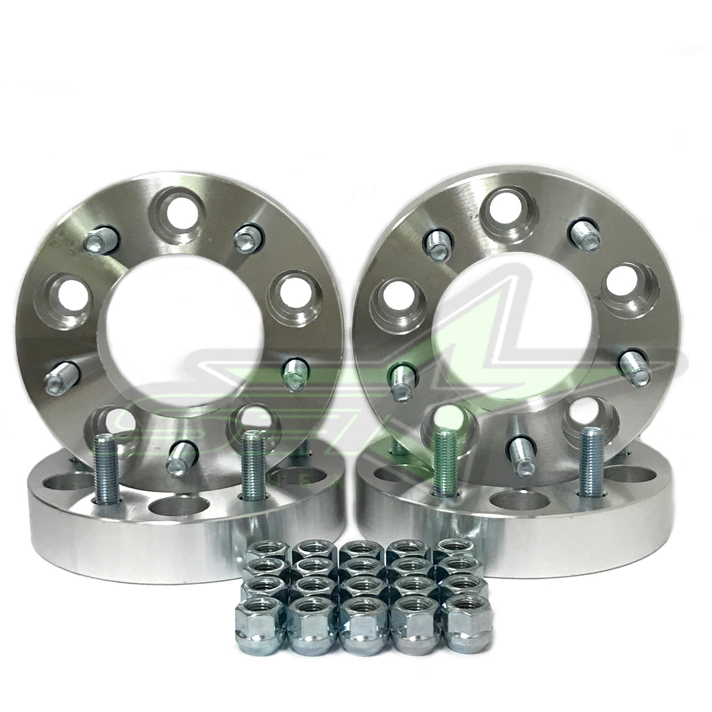 5X5 WHEEL SPACERS 1.25 INCH THICK 12X1.5 FOR CHEVY CHRYSLER CADILLAC BUICK CARS