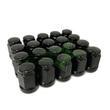 20 Jeep Black Lug Nuts | 1/2-20 | Closed End 5X5, 5X4.5, 5X5.5 Bulge Acorn Lugs
