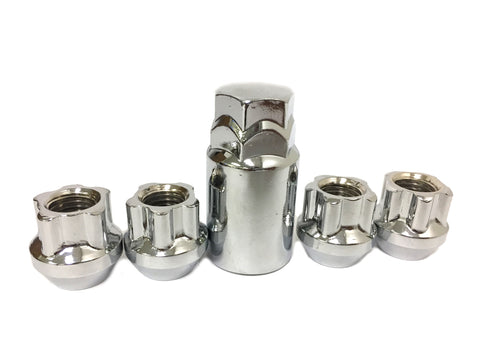 LOCKING LUG NUTS WHEEL LOCKS OPEN END 1/2x20 - Set Group USA - 1