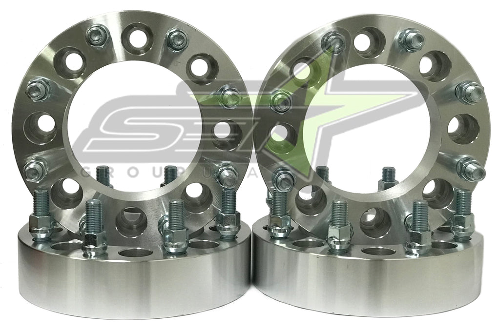 4X 8 Lug Wheel Spacers 8X6.5 | 2 Inch Fits Silverado 2500 3500 Hd Duramax 14X1.5