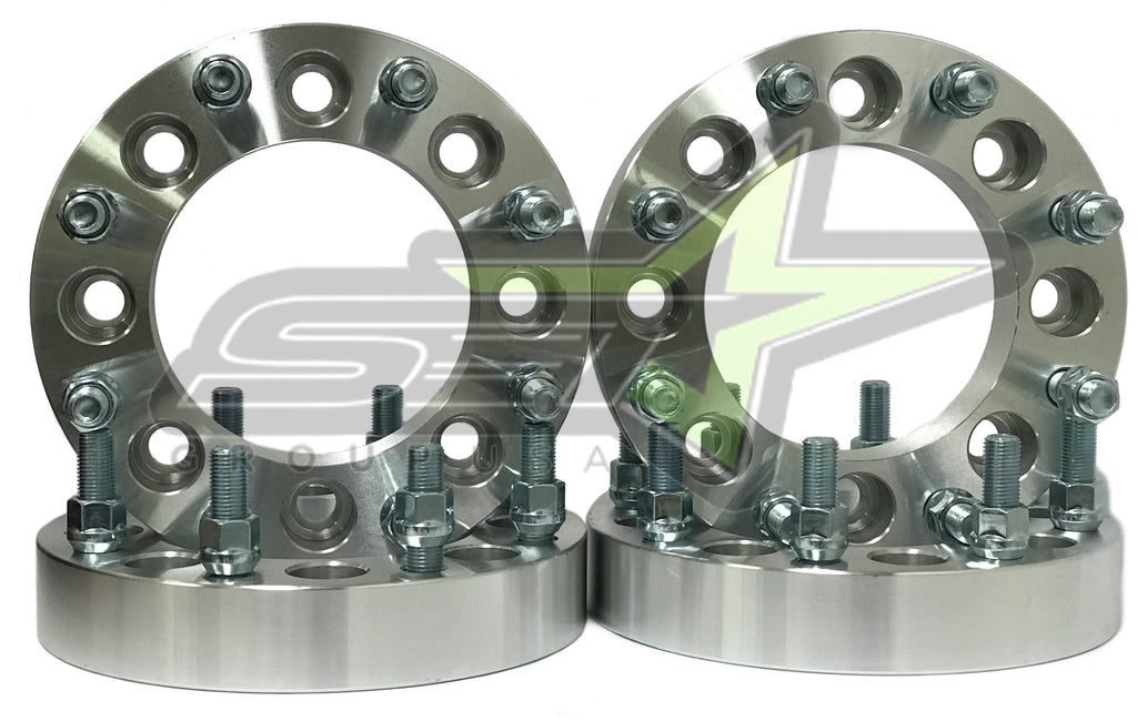 """Complete Set Of 8 Lug Wheel Spacers 8x6.5 To 8x6.5 With 9//16/"""" Studs Made In USA"""