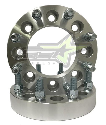 "8X6.5 Wheel Spacers | Adapters | 9/16 | Dodge Ram | Ford F-250 F-350 | 2"" Inches"