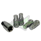 "14x1.5 Wheel Lock Keys Anti-Theft Lug Nuts 5 Piece Total 1.9"" Tall"