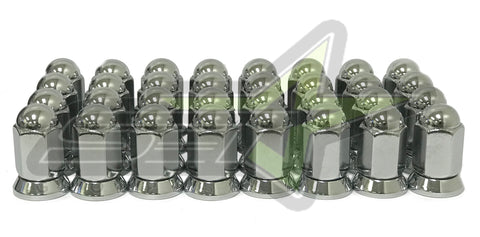 1994-2011 Dodge Ram 2500 3500 1988-1998 Ford F-250 F-350 Alcoa Style Lug Nuts Chrome With Pressed In Washer 16 PCS 9//16-18 Thread Fits