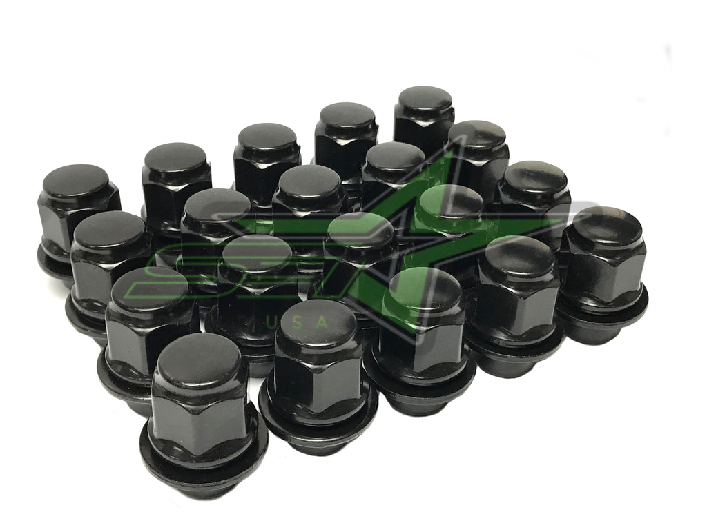 16 Nissan OEM Black Factory Mag Style Lug Nuts 12x1.25 | For