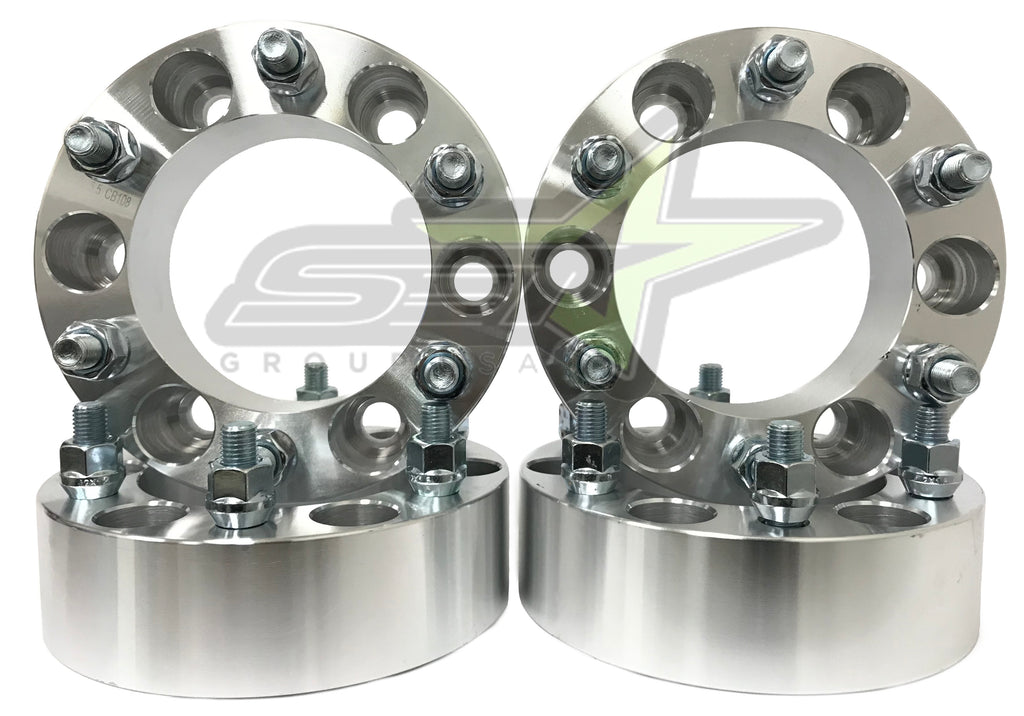 4 Chevy Gmc Cadillac Wheel Spacers 6X5.5 | 2 Inch, 50Mm | Fits Most 6 Lug 14X1.5