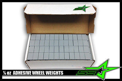 "6 Boxes Of 1/4 Oz Wheel Weights ""Perfect"" Brand 3744 Pc Stick-On Adhesive 936 Oz - Set Group USA"