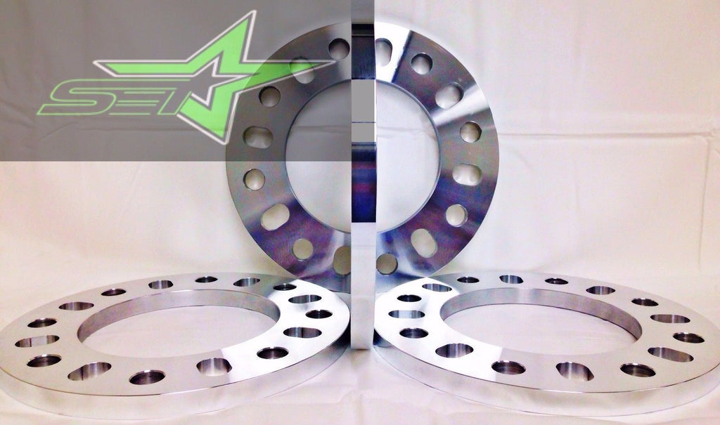 "2X 8 LUG WHEEL SPACERS | FITS ALL 8X200 FORD F-350 SUPER DUTY DUALLY | 3/4"" INCH"