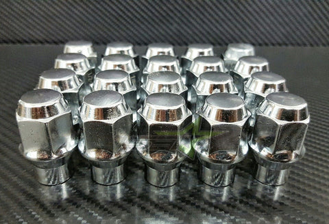 20 LUG NUTS ET CHROME BULGE ACORN LUG NUTS | 7/16 | CHEVY BUICK FIREBIRD