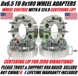 "8X6.5 TO 8X180 WHEEL ADAPTERS | FITS MOST 8 LUG CHEVY & GMC | 1.25"" INCH 32MM"