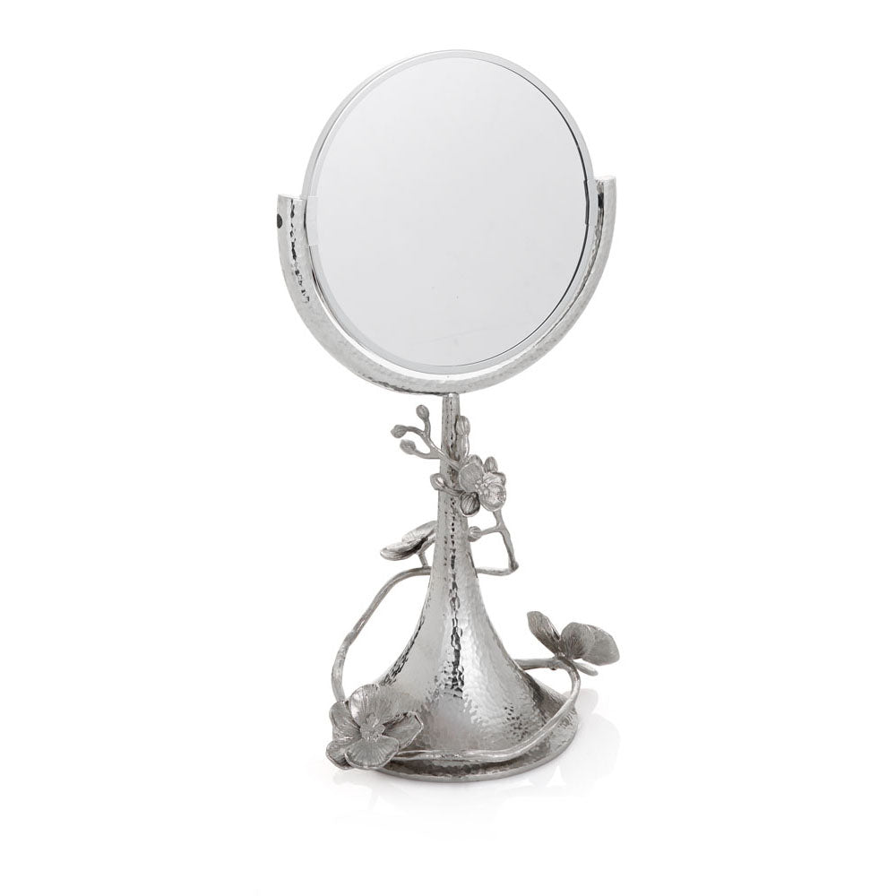 White Orchid Vanity Mirror - china-cabinet.com