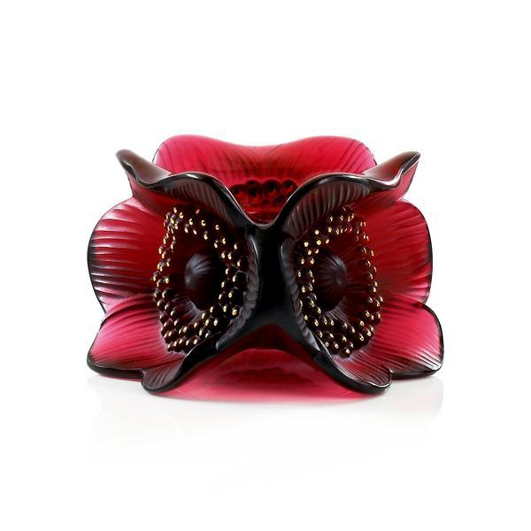 alique Rouge Three Anemone Candleholder 1011 - china-cabinet.com