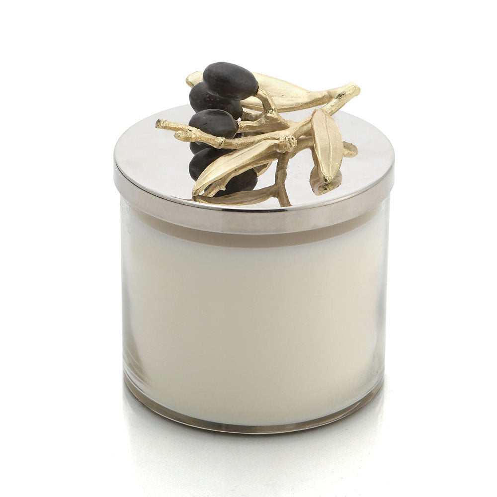 Olive Branch Gold Candle - china-cabinet.com