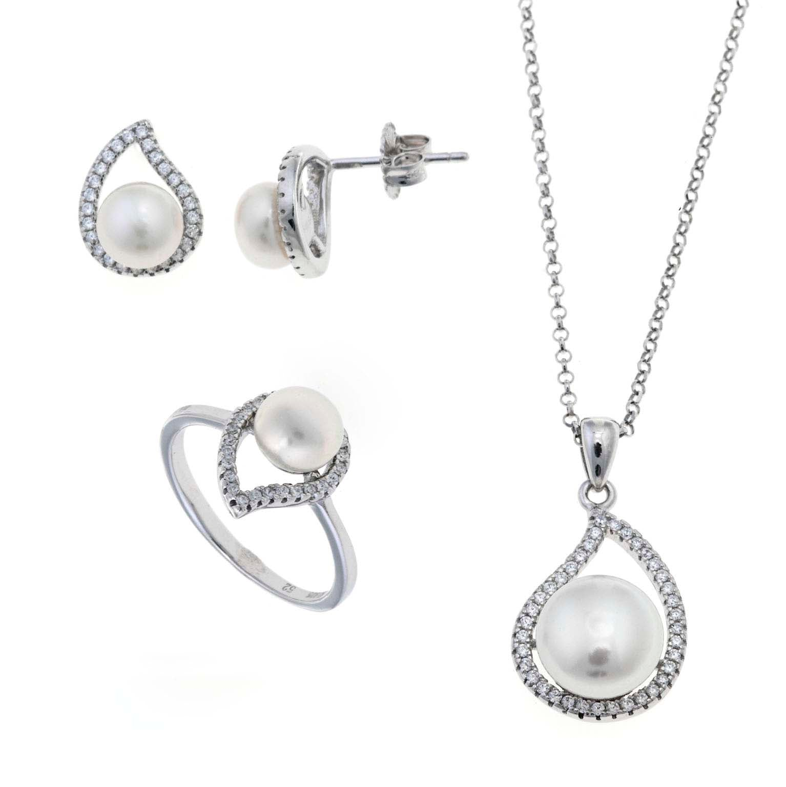 SETS WITH FRESHWATER PEARL IN TEARDROP SHAP - china-cabinet.com