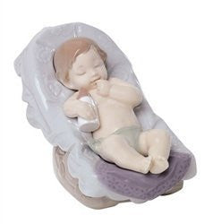 "Nao by Lladro Collectible Porcelain Figurine: DREAM LITTLE BOY - 3 1/4"" tall - sleeping baby..."