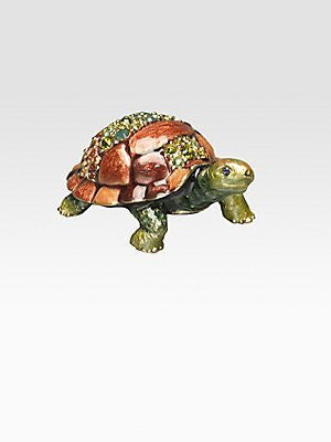 Jay Strongwater Charlie Mini Turtle Figurine SDH1726256 - china-cabinet.com