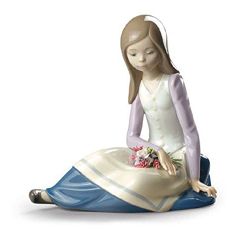 Lladro Contemplative Young Girl - china-cabinet.com