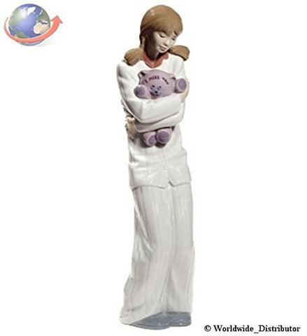 Nao Porcelain by Lladro TEDDY HUGS ( GIRL HUGGING TEDDY ) 2001694