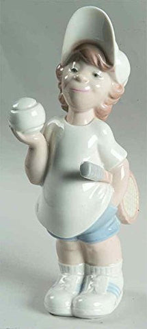 Lladro Figure Porcelain Tennis Player Puppet