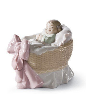 A NEW TREASURE ( GIRL ) Lladro Porcelain