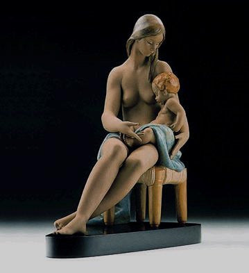 Lladro Care and Tenderness Matt Gres Mother and Baby