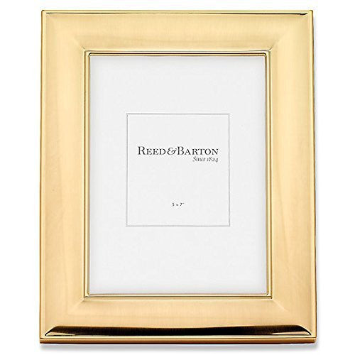 NEWTON beveled Satin Gold 5x7 frame by Reed & Barton® - 5x7 - china-cabinet.com