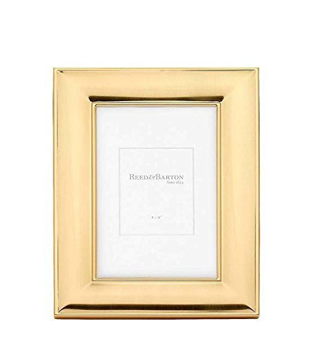 Beautiful NEWTON beveled Satin Gold 4x6 frame by Reed & Barton® - 4x6