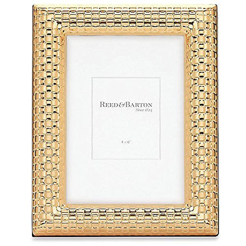 WATCHBAND Satin Gold 4x6 frame by Reed & Barton® - 4x6